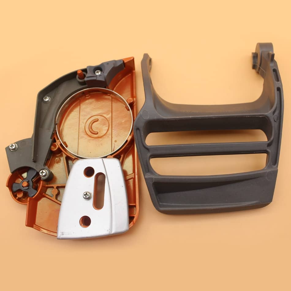 Chain Brake Side Cover Front Hand Guard Chain Brake Handle Lever ...